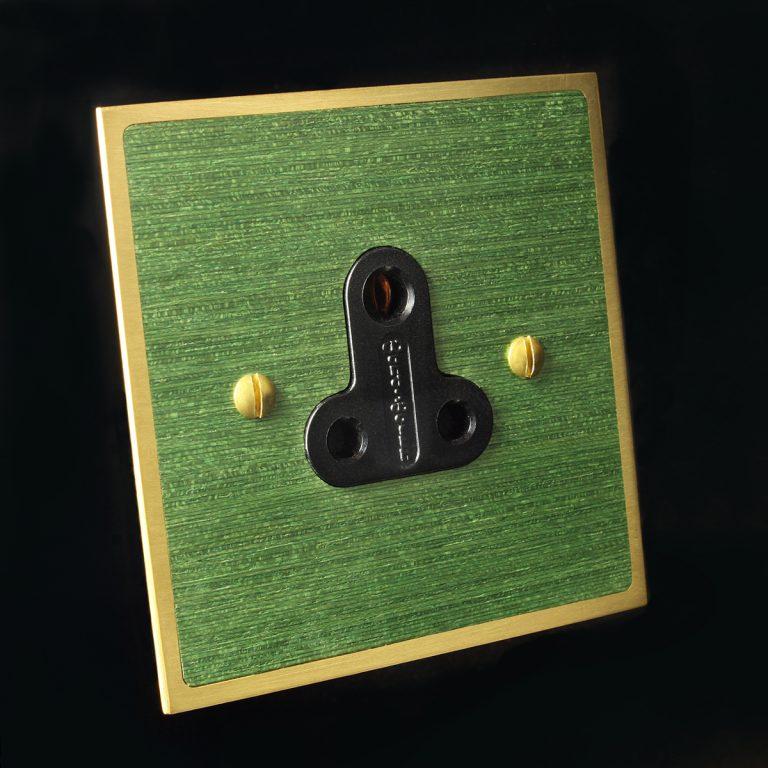 10 brass + green veneer