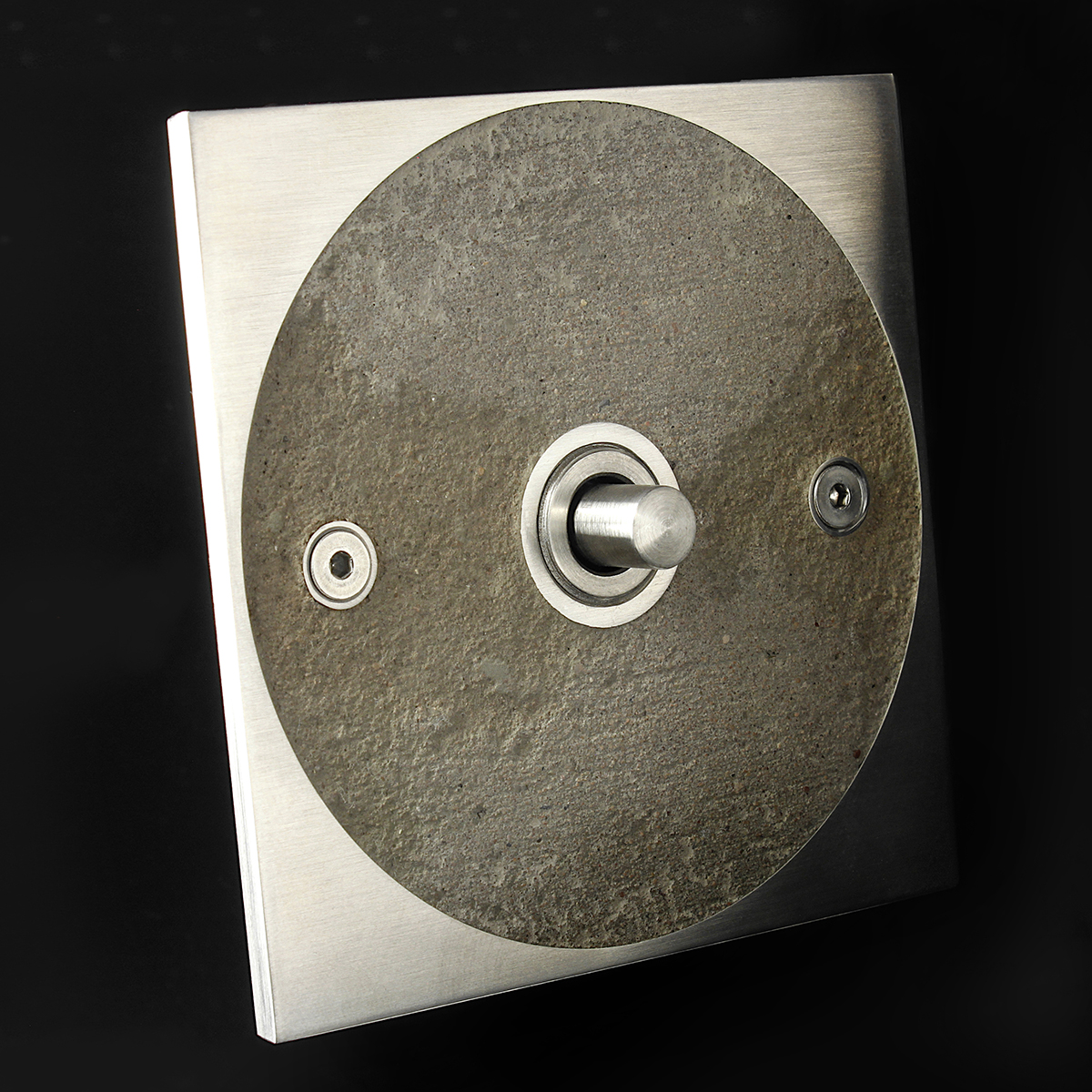 12 stainless steel + concrete, dimmer