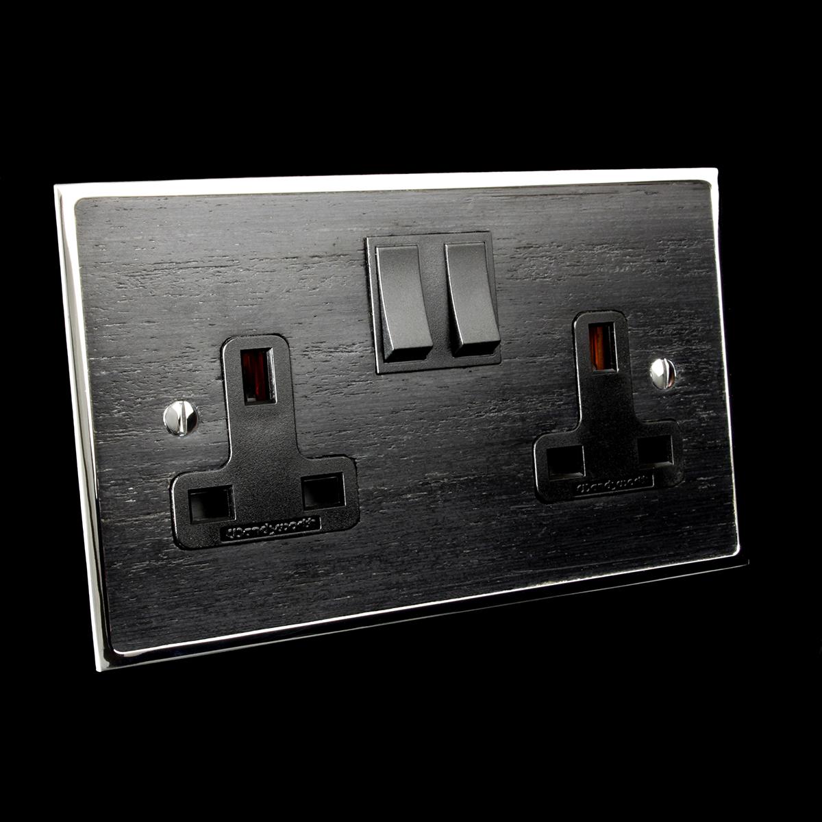 18 polished chrome + black veneer