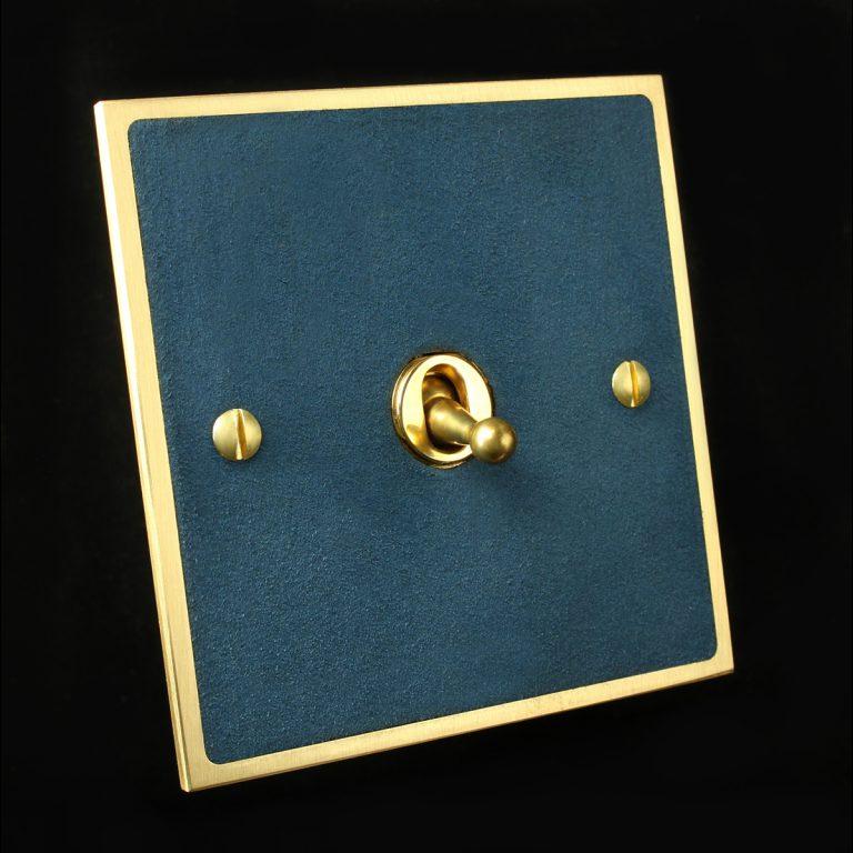 2 Brass + blue suede