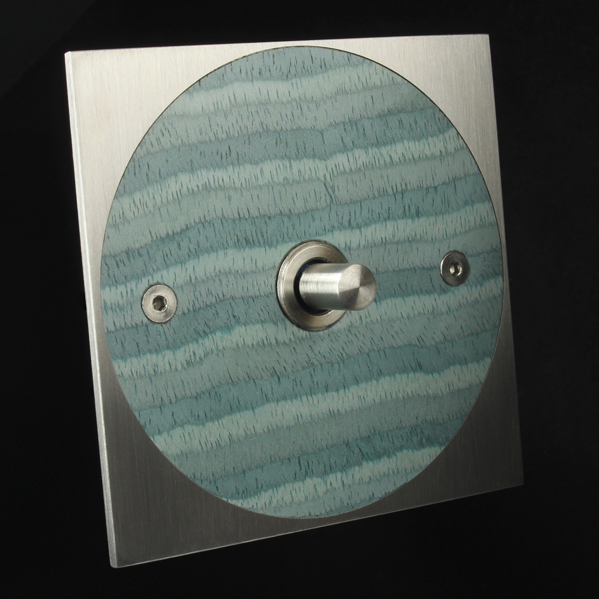 4 stainless steel + blue wave, dimmer