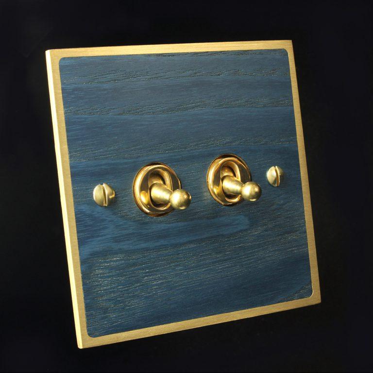 5 brass + blue ash, double dimmer